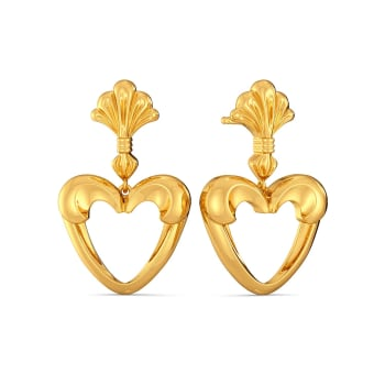 Love Palm Gold Earrings