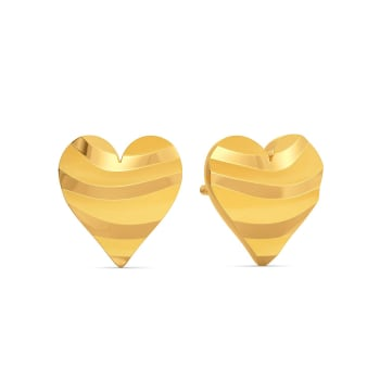 Wild Instinct Gold Earrings