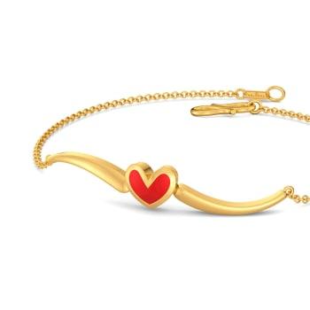 Heart Apart Gold Bracelets