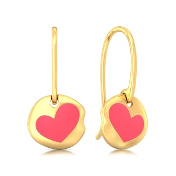 Enamoured Enamel Gold Earrings