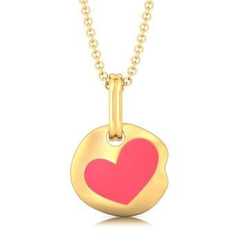 Enamoured Enamel Gold Pendants