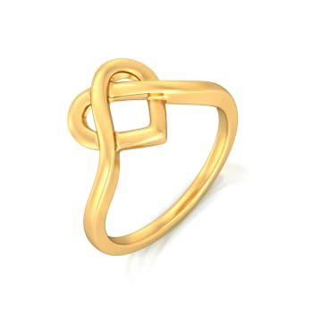 Knotty Affair Gold Rings
