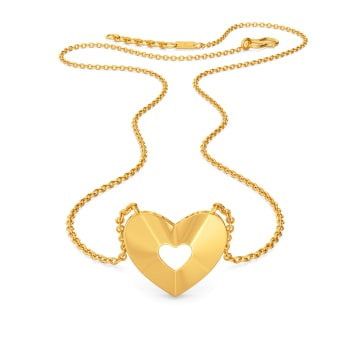 Peek-a-boo Gold Necklaces