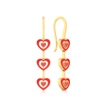 Heart-astic Gold Earrings