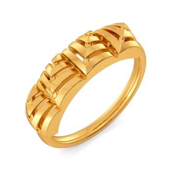 Skimpy Squares Gold Rings
