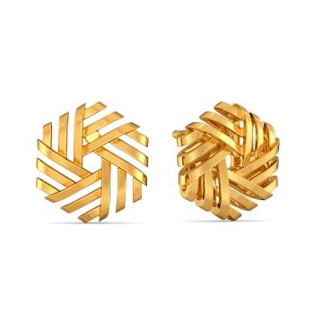 Reveal N Conceal Gold Earrings
