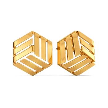 Sheer Satins Gold Earrings