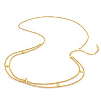 Tri Stringed Gold Waist Chains
