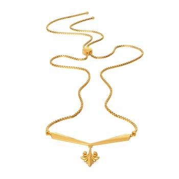 Prim N Petal Gold Necklaces