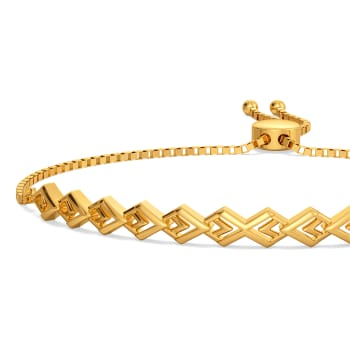 Casual Chords Gold Bracelets