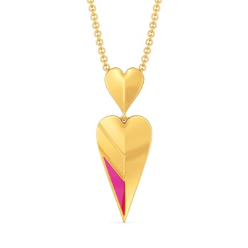Flirty Fuchsia Gold Pendants
