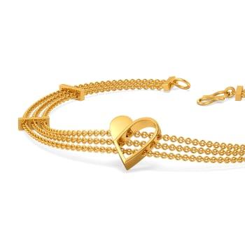 Half of My Heart Gold Bracelets
