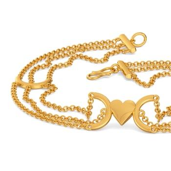 My Valentine Fringe Gold Bracelets
