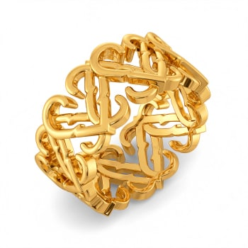 Rosy Romance Gold Rings