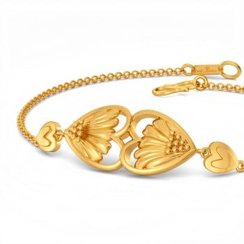 Flower Kissed Gold Bracelets