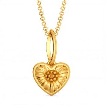 Flower Kissed Gold Pendants
