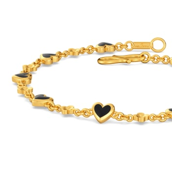 Midnight Heart Gold Bracelets