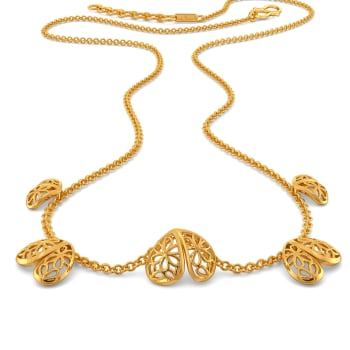 Lace Twinning Gold Necklaces