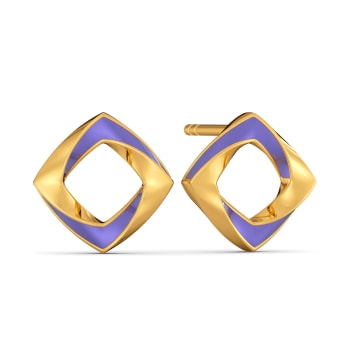 Lilac Vision Gold Earrings