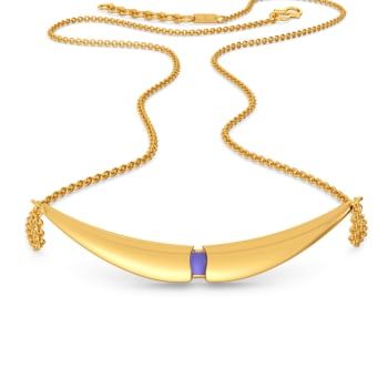 Lilac Hues Gold Necklaces