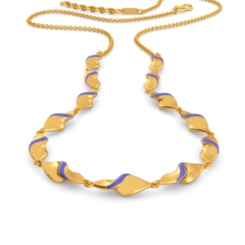 Lilac Palette Gold Necklaces