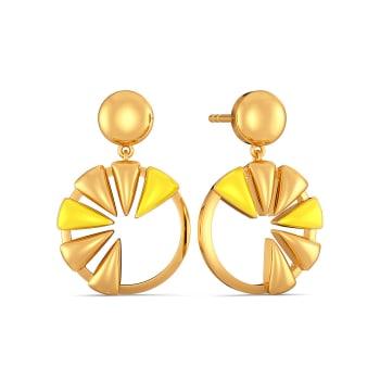 Melon Maze Gold Earrings