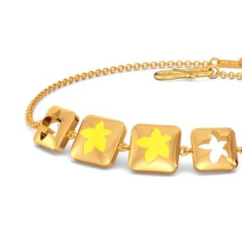 Yellow Verbena Gold Bracelets