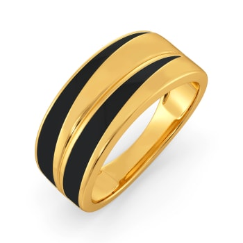 Leather Love Gold Rings