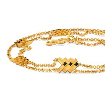 Loud N Leather Gold Bracelets