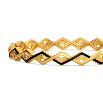 Leather Weather Gold Bangles