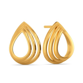 Abstract Flair Gold Earrings