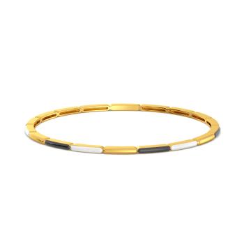 Gold Taijitu Gold Bangles