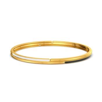 Yin and Yang Gold Bangles