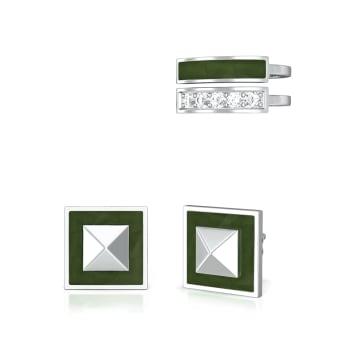 Green Fields Diamond Earrings