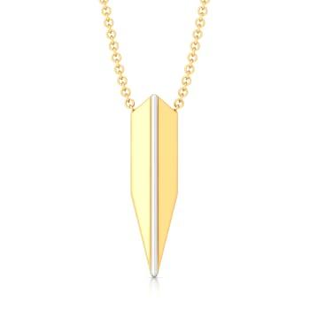 Polygon Shield Gold Pendants