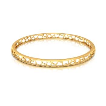 Fierce Filigree  Gold Bangles