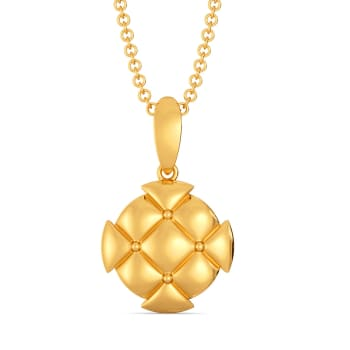 Quite A Quilt Gold Pendants