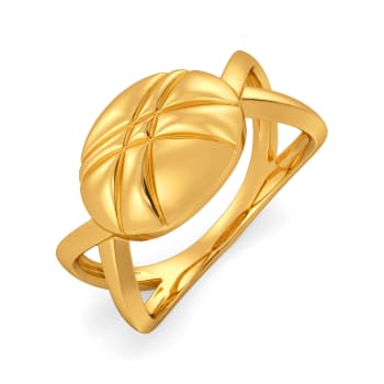 Chic Quilt Gold Rings