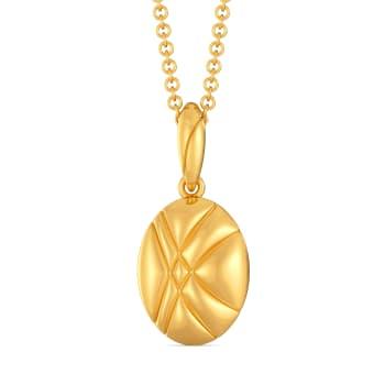 Chic Quilt Gold Pendants