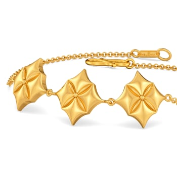 Quilt Queen Gold Bracelets