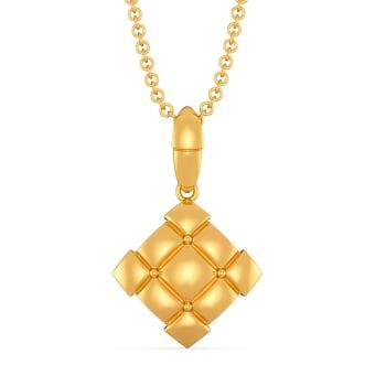 Quilt Quests Gold Pendants