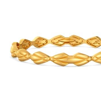 Caz Quilt Gold Bangles