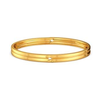 Double Rubble Gold Bangles
