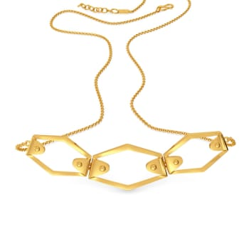Neutral Knots Gold Necklaces