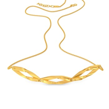 Rugged Rain Gold Necklaces