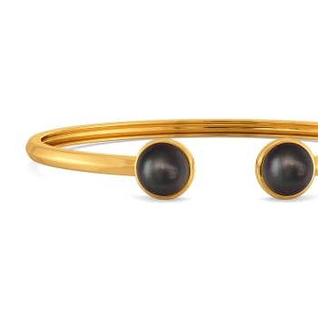 Black Tracked Gemstone Bangles