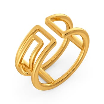 Clipped Formals Gold Rings