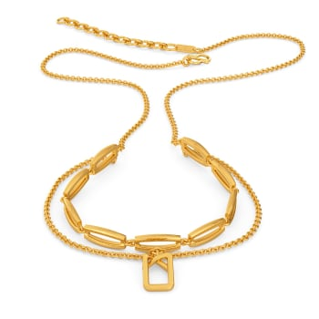 Clipped Formals Gold Necklaces