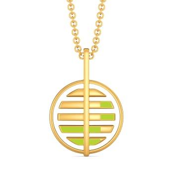 Neon Buzz Gold Pendants
