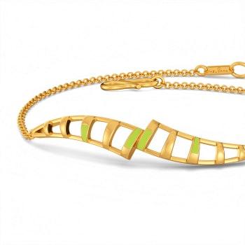 Lime N Licious Gold Bracelets